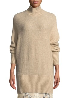 Lafayette 148 New York Brushed Cashmere-Silk Dolman Sweater