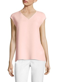 Lafayette 148 New York Bryson Silk Double Georgette Blouse
