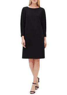 Lafayette 148 New York Caddie 3/4-Sleeve Back-Zip Dress