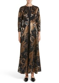 Lafayette 148 New York Cadenza Renaissance Paisley Devoré Dress