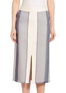 Lafayette 148 Calico Awning-Stripe Adelina Skirt