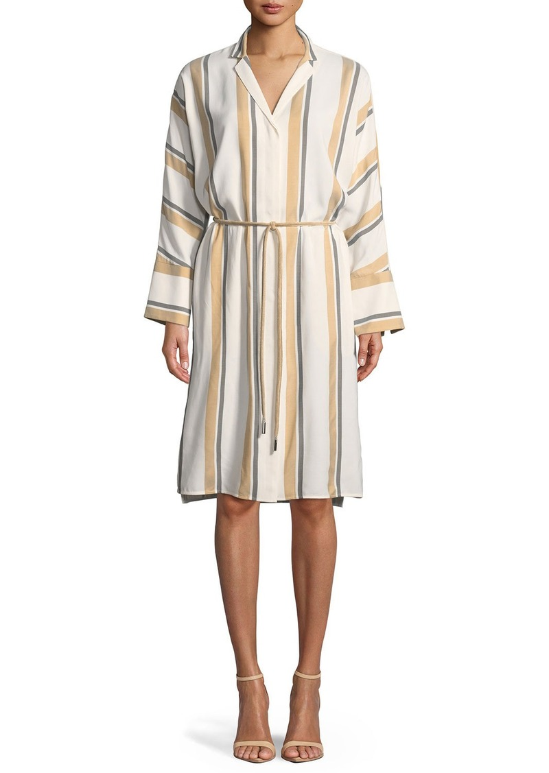 Lafayette 148 New York Calleigh Vienna Stripe Duster Dress