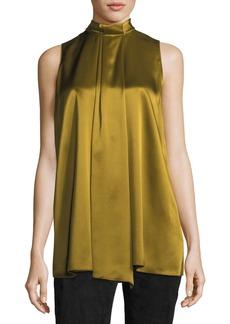 Lafayette 148 New York Callie Sleeveless Luxe Silk Charmeuse Blouse