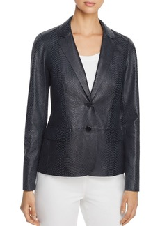 Lafayette 148 New York Camden Snake-Embossed Leather Blazer - 100% Exclusive