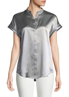 Lafayette 148 New York Camilla Luxe Silk Charmeuse Blouse