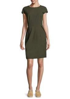 Lafayette 148 Cap-Sleeve Sheath Dress