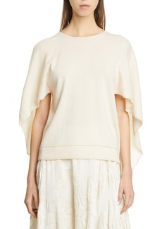 Lafayette 148 New York Cape Back Cashmere Sweater