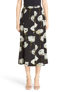Lafayette 148 New York Carissa Floral Print Skirt
