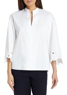 Lafayette 148 New York Carla Embroidered Blouse