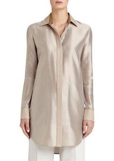 Lafayette 148 New York Carlise Long Silk Blouse