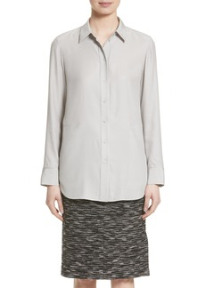 Lafayette 148 New York Carlise Silk Blouse (Nordstrom Exclusive)