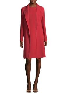 Carmelle Long Crepe Wool Jacket
