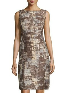 Lafayette 148 New York Carol Sleeveless Jacquard Sheath Dress