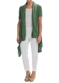 Lafayette 148 New York Cascade Cardigan Sweater - Short Sleeve (For Women)