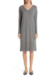 Lafayette 148 New York Cashmere & Silk Sweater Dress