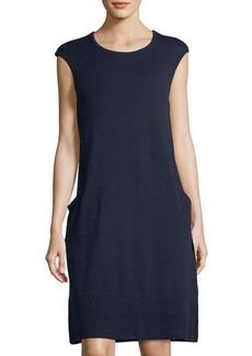 Lafayette 148 New York Cashmere A-Line Sweater Dress