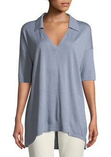 Lafayette 148 New York Cashmere-Blend Relaxed Modern-Fit Polo Shirt