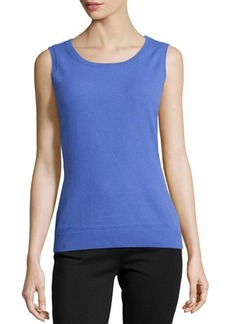 Lafayette 148 New York Cashmere-Blend Scoop-Neck Tank