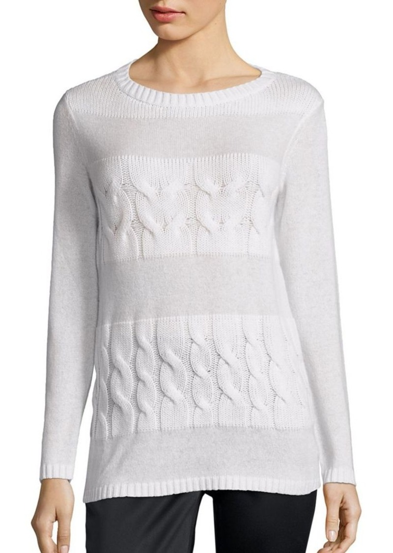 Lafayette 148 Lafayette 148 New York Cashmere Cable-Knit Sweater ...