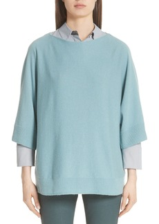 Lafayette 148 New York Cashmere Dolman Sleeve Sweater