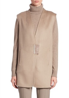 Lafayette 148 New York Cashmere Long Kingsley Vest
