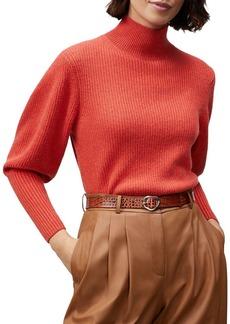 Lafayette 148 New York Cashmere Mock Neck Sweater