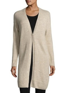 Lafayette 148 New York Cashmere-Silk Sparkle Duster Sweater