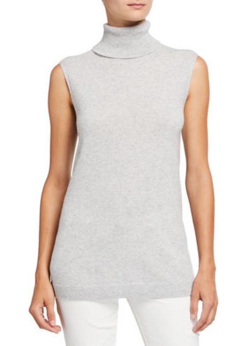 Lafayette 148 New York Cashmere Sleeveless Turtleneck Sweater