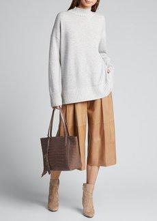Lafayette 148 New York Cashmere Stand-Collar Sweater