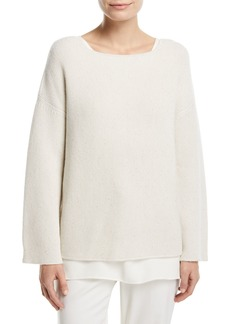Lafayette 148 New York Cashmere Textured Stitch Sweater