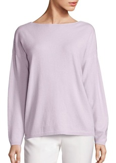 Lafayette 148 New York Cashmere V-Back Sweater