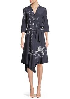 Lafayette 148 Casimir Desert Bloom Silk Dress