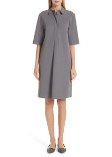 Lafayette 148 New York Casper Stretch Cotton Shirtdress