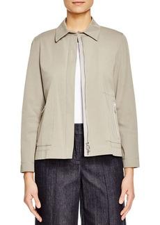 Lafayette 148 New York Cassidy Zip Front Jacket