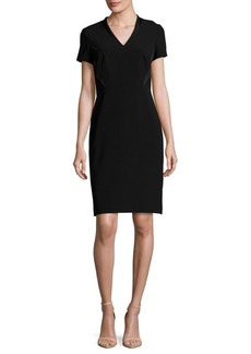 Lafayette 148 New York Catalina Solid Short-Sleeve Dress