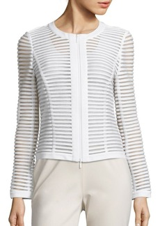 Lafayette 148 New York Catrice Mesh Striped Jacket