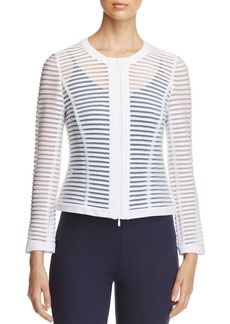 Lafayette 148 New York Catrice Sheer Stripe Jacket