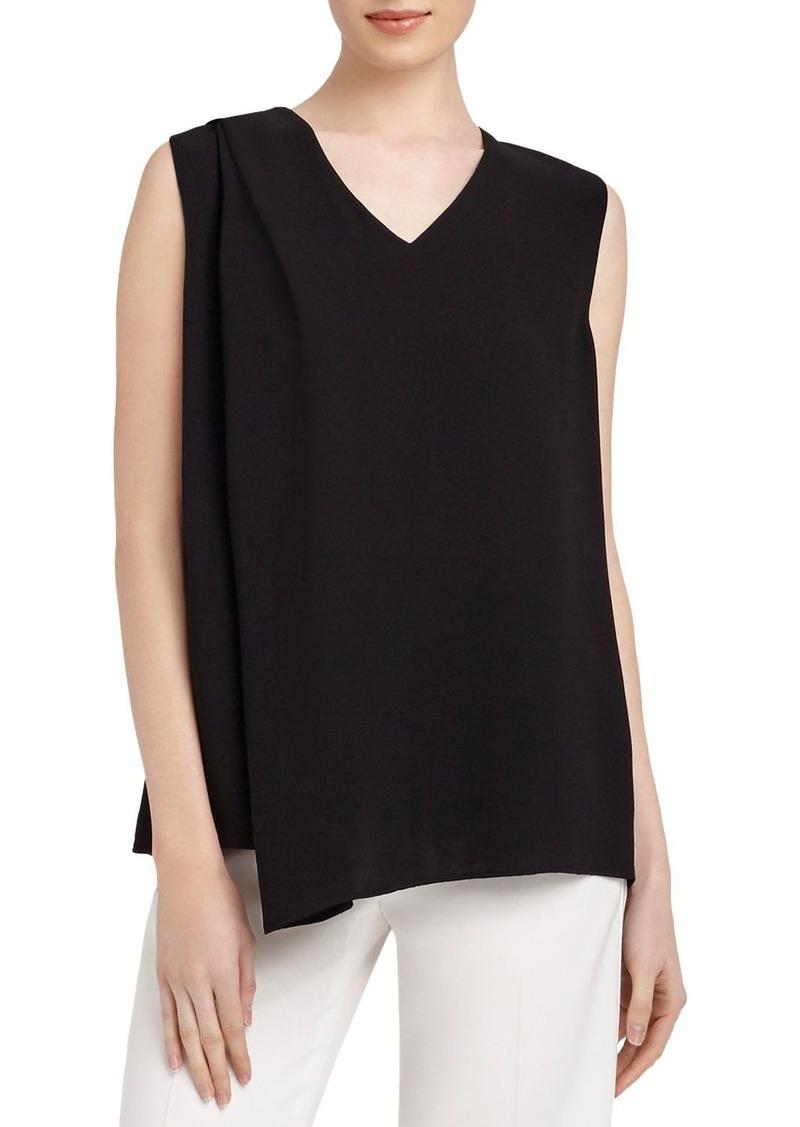 Lafayette 148 New York Cece Shoulder Pleat Silk Top
