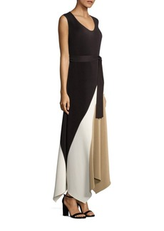 Lafayette 148 New York Celia Pleated Asymmetric Dress