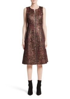 Lafayette 148 New York Celinda Metallic Jacquard Dress