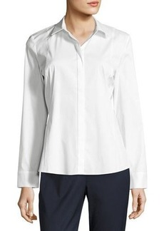 Lafayette 148 New York Cera Button-Front Top