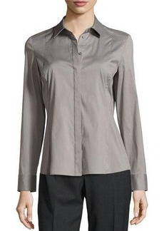 Lafayette 148 New York Cera Stretch-Poplin Blouse