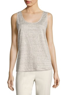 Lafayette 148 New York Chain-Trim Linen Tank Top