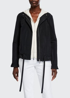 Lafayette 148 New York Chapman Zip-Front Empirical Tech Cloth Jacket