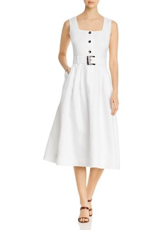 Lafayette 148 New York Chris Belted Midi Dress