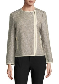 Lafayette 148 New York Christa Bouclé Moto Jacket