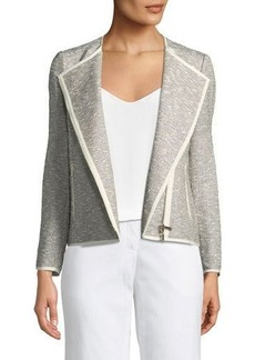 Lafayette 148 New York Christa Tweed Moto-Jacket