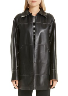 Lafayette 148 New York Christopher Leather Jacket