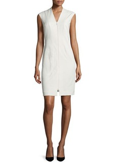 Lafayette 148 New York Christy Zip-Front Sheath Dress