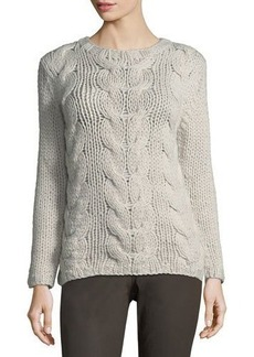 Lafayette 148 New York Chunky Cable-Knit Cashmere Sweater